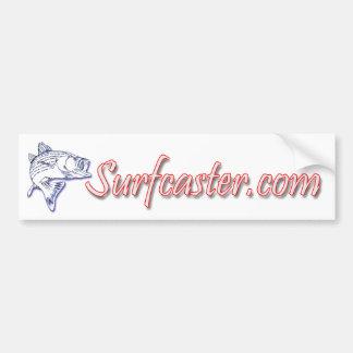 Surfcaster.com en línea pegatina para auto