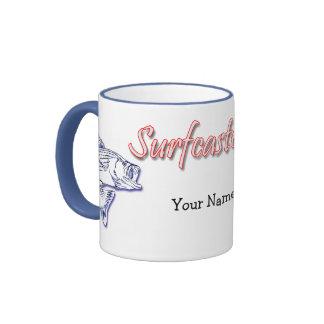 Surfcaster.com - personalizado taza de dos colores