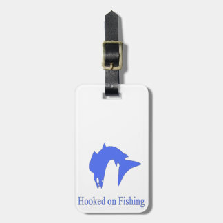 Surfcasting Hooked On Fishing Luggage Tag