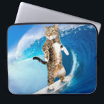 "Surfcat -surfing cat - crazy cat computer sleeve<br><div class=""desc"">surf surfing summer cute,  animal beach surfboard ocean , sport surfer nature happy , drawing sea art beautiful , mammal young wave lifestyle,  kitten tabby pet feline,  eyes cats kitty fur,  funny looking domestic adorable,  purebred pretty gray small , striped grey furry paw</div>"
