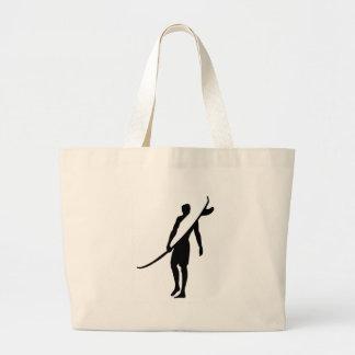 surfer1 large tote bag