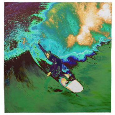 USA Themed Surfer2 Cloth Napkin