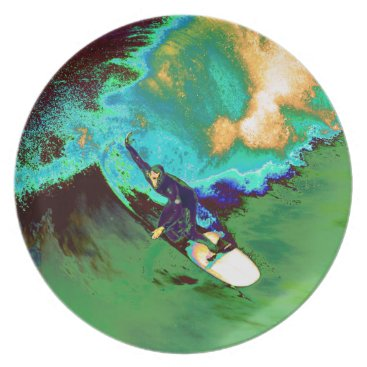 USA Themed Surfer2 Melamine Plate