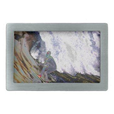Beach Themed Surfer4 Belt Buckle