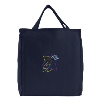 Surfer Abstract Embroidered Tote Bag