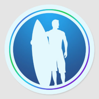Surfer and Surfboard sticker