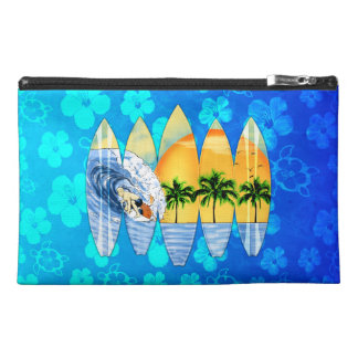Surfer And Surfboards Travel Accessories Bag