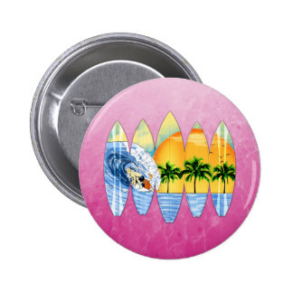 Surfer And Surfboards Buttons