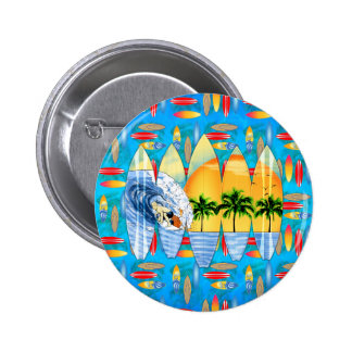 Surfer And Surfboards Pin