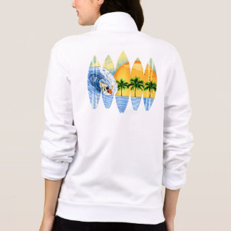 Surfer And Surfboards Jacket