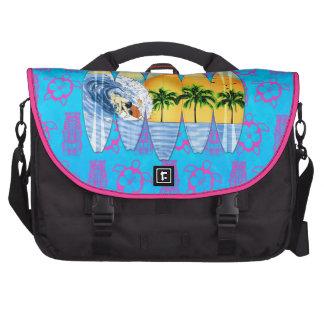 Surfer And Surfboards Laptop Messenger Bag
