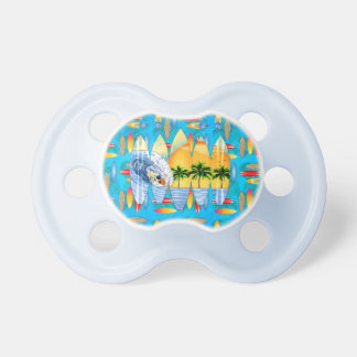 Surfer And Surfboards Pacifier