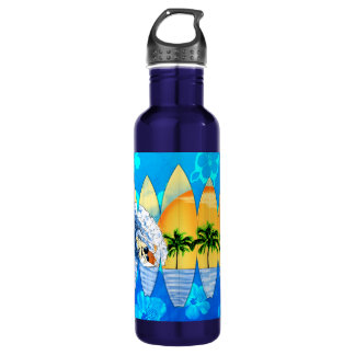Surfer And Surfboards Stainless Steel Water Bottle