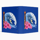 Surfer And Tiki Statue 3 Ring Binders