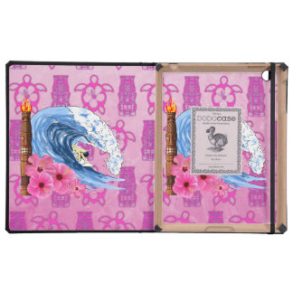 Surfer And Tiki Statue Case For iPad