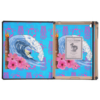 Surfer And Tiki Statue Covers For iPad