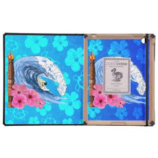 Surfer And Tiki Statue iPad Folio Cases