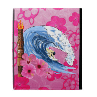 Surfer And Tiki Statue iPad Cases