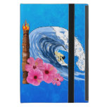 Surfer And Tiki Statue Cover For iPad Mini