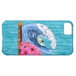 Surfer And Tiki Statue Cover For iPhone 5C