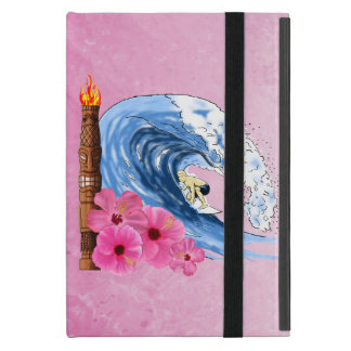 Surfer And Tiki Statue Cases For iPad Mini
