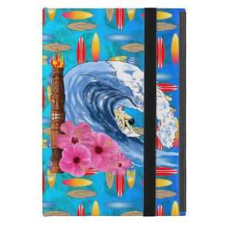 Surfer And Tiki Statue Case For iPad Mini