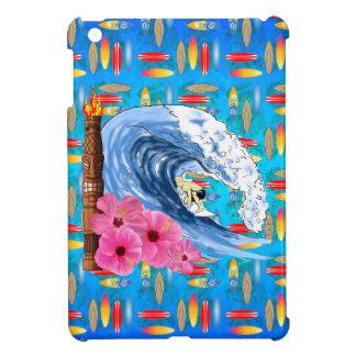 Surfer And Tiki Statue iPad Mini Cases