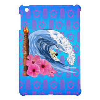 Surfer And Tiki Statue iPad Mini Cover