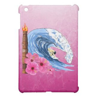 Surfer And Tiki Statue Case For The iPad Mini