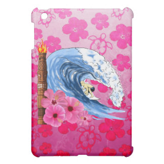 Surfer And Tiki Statue Cover For The iPad Mini