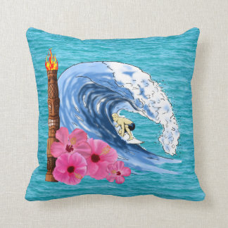 Surfer And Tiki Statue Pillows