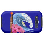 Surfer And Tiki Statue Samsung Galaxy S3 Cover
