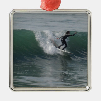 Surfer at Moonstone Beach, Cambria Christmas Tree Ornament