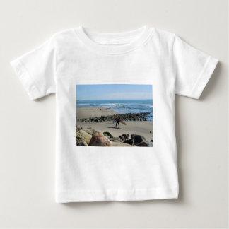 Surfer at Rincon Beach, Ventura, CA Baby T-Shirt