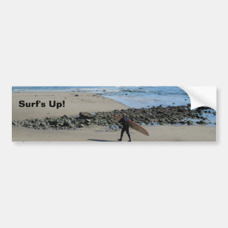Surfer at Rincon Beach, Ventura, CA Bumper Sticker