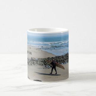 Surfer at Rincon Beach, Ventura, CA Classic White Coffee Mug