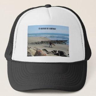 Surfer at Rincon Beach, Ventura, CA Trucker Hat