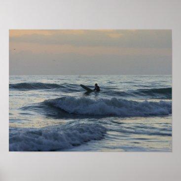 Art Themed Surfer Awaits Poster