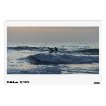 Art Themed Surfer Awaits Wall Decal