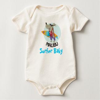 surfer baby baby bodysuit