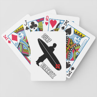 Surfer Biarritz Basque Bicycle Playing Cards