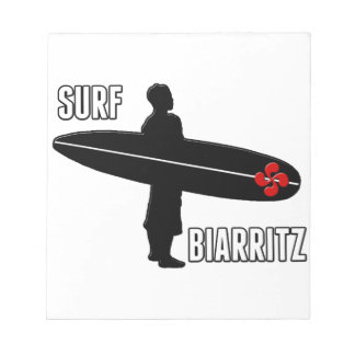 Surfer Biarritz Basque Notepad
