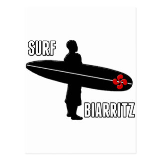 Surfer Biarritz Basque Postcard