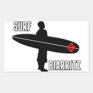 Surfer Biarritz Basque Rectangular Sticker