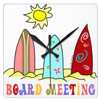 Surfer Board Wall Clock