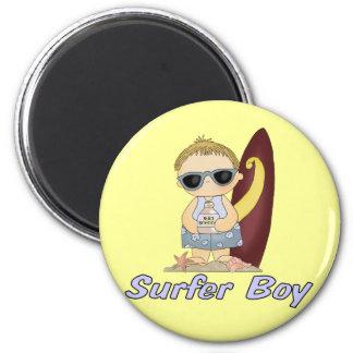 Surfer Boy 2 Inch Round Magnet