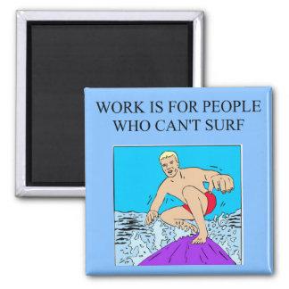 surfer boy 2 inch square magnet