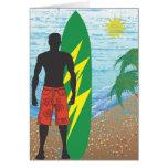 Surfer Boy Blank Greeting Card