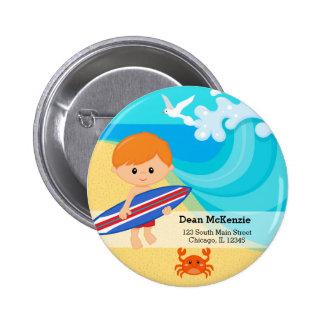 surfer boy 2 inch round button