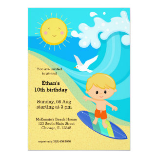 Surfer boy card